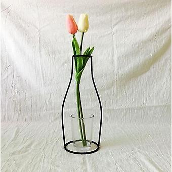 Creative Art Style, Retro Iron Line Flowers Vase