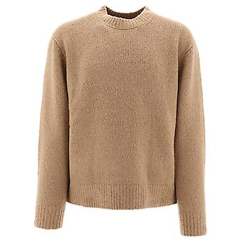 Acne Studios B60066lightbrowne Men's Beige Wool Sweater