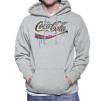 Coca Cola Graffiti Logo Männer's Kapuzen Sweatshirt