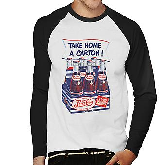 Pepsi Cola Retro Take Home Carton Hommes Baseball Long Sleeved T-Shirt