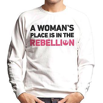 Star Wars A Womans miejsce jest w bluza męska buntu