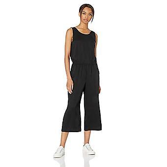Brand - Daily Ritual Women's Tencel Sleeveless V-Back Jumpsuit, Nero, 6