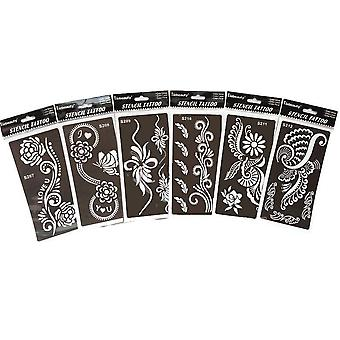 Reusable Tattoo Template - Professional Tattoos Stencil Used By Bride For Hand