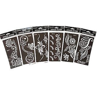 Reutilizabile Tattoo Template - Tatuaje profesionale Stencil folosit de mireasa pentru mână