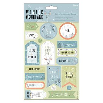 Papermania Winter Woodland Die-Cut Sentiments & Toppers