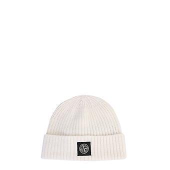 Stone Island 7315n10b5v0099 Men's White Wool Hat