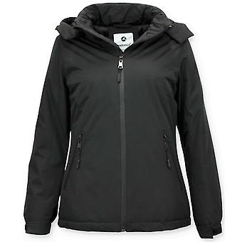 Short Winter Coat - Slim Fit - With Hood - Black