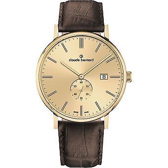 Claude Bernard - Armbandsur - Män - Slim linje liten sekund - 65004 37J DID