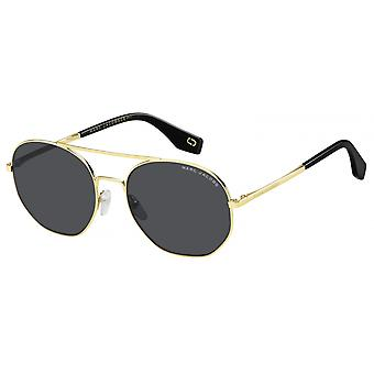 Sunglasses Unisex around double bridge gold/black