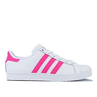 Girl's adidas Originals Junior Coast Star Trainers in White