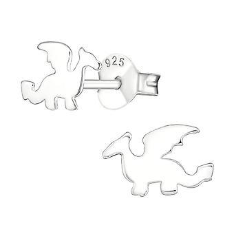 Children's Sterling Silver Dragon Stud Earrings