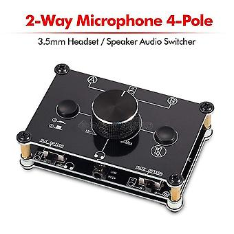 Mc1024 2-way Microphone Headset/speaker Mic Audio Switch Hub Switcher 3.5mm 4-pole A&b Selector