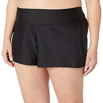 Brand - Coastal Blue Plus Size Bikini Bottom, Black, 2X (20W-22W)