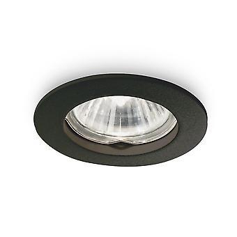 ideell lux jazz - innendørs innfelt downlight lampe 1 lys svart, GU10