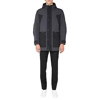 Z Zegna Vv087zz222k09 Herren's Schwarz Polyester Outerwear Jacke
