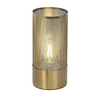 Brillante lámpara de mesa Gracian latón cepillado | 1x A60, E27, 60W, g.f. lámparas normales n. ent. | Para bombillas LED
