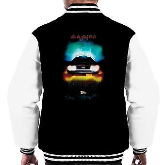 Back to the Future Delorean Headlights Design Men's Varsity Jacket