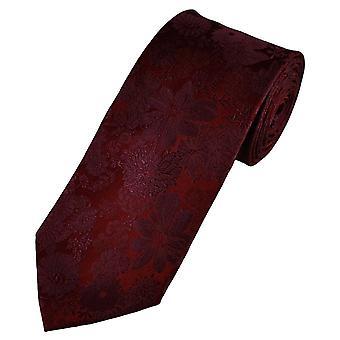 Ties Planeta Oro Etiqueta Borgoña Auto flor patrón hombres's corbata de seda