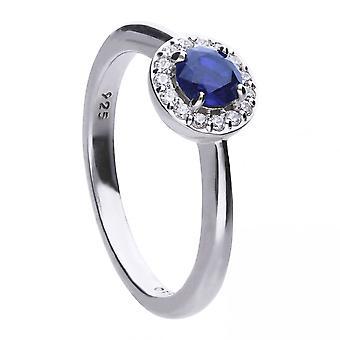 Diamonfire hopea valkoinen Zirkonia Solitaire Ring R3636