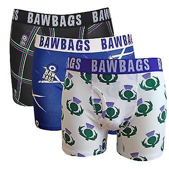 Bawbags 3 حزمة الملاكم شورت -- الاسكتلندي
