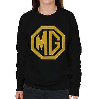 MG Gold Logo British Motor Heritage Naisten's Collegepaita