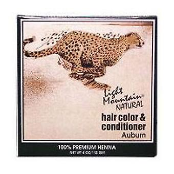 Light Mountain Natural Hair Color and Conditioner, Auburn 4 Oz