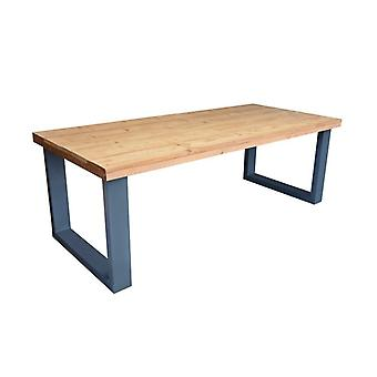 Wood4you - Esstisch New England geröstetes Holz Anthrazit 220Lx78Hx90D cm