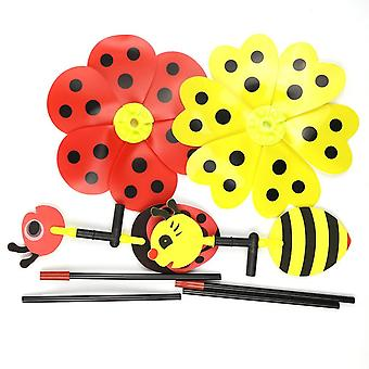 Ladybug Design Windmill For Home Yard, Garden Decor