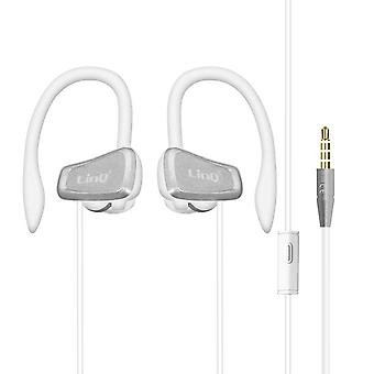 Wired Sport Headphones 3.5mm Jack In-Ear Remote Control LinQ White