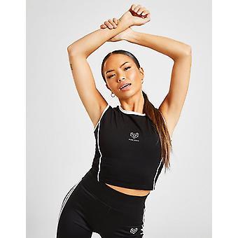 Nieuwe Pink Soda Sport Women's Pipe Crop Vest Top Black