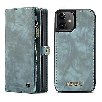 CASEME iPhone 12 Mini Retro Brieftasche Fall - grün