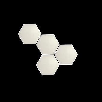 White Led Honeycomb Quantum Hexagon, Wall Lamp With Touch Sensitive
