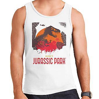 Jurassic Park Welcome To Jurassic Park T Rex Silhouette Men's Vest