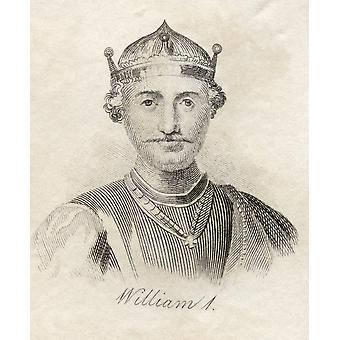 William I The Conqueror 1027-1087 First Norman King Of England PosterPrint