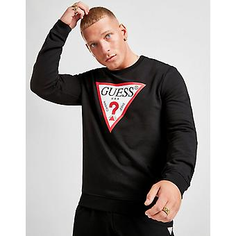 חדש לנחש גברים &s משולש לוגו צוות סווטשירט שחור