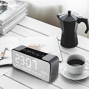 Spejl Bluetooth-højttaler vækkeur