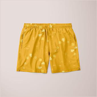 Eenvoudige geometrische patroon 3 cy poster shorts
