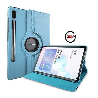 FONU 360° Bücherregal Cover Samsung Galaxy Tab S6 - hellblau
