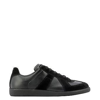 Maison Margiela S57ws0236p1897900 Men's Black Leather Sneakers