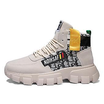 Zimní high top pánské pracovní boty, módní tlusté spodní boty, venkovní protiskluzové,