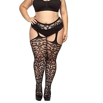 Women Suspender Pantyhose Tights Plus Size Stockings