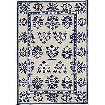 HAR 4208 2'X 3' - Sand/Blauer Teppich