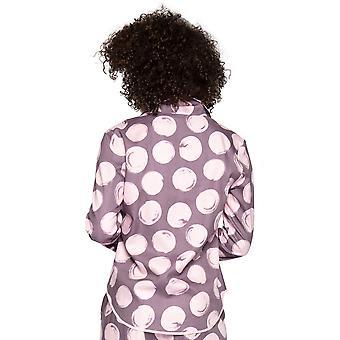 Cyberjammies Gabriella 4737 Women's Aubergine Spotted Cotton Pyjama Top