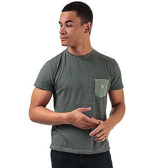 Men's Henri Lloyd Striped Jersey T-Shirt in Green