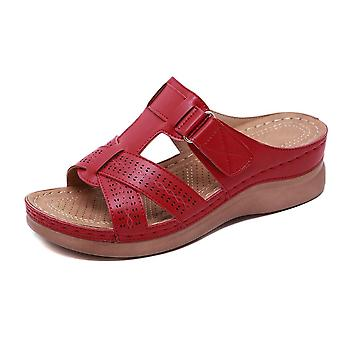 Summer Orthopedic, Open-toe Sandals, Anti-slip, Leather Casual Shoes