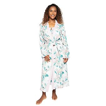 Cyberjammies Nora Rose Lucy 1513 Women's Pink Mix Floral Cotton Robe