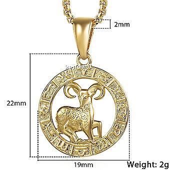Men's Women's Horoscope Zodiac Sign Pendant, Necklace, Constellations Jewelry