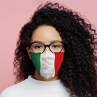 Cobertura facial reutilizável da bandeira italiana - grande