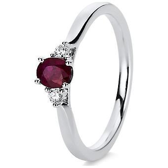 Luna Creation Princess Ring Color Stone 1D419W857-1 - Ringbreedte: 57