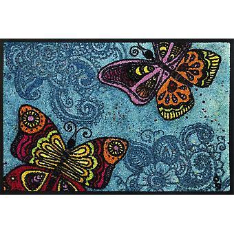 tapete de designer lavado+seco Espalhe suas asas 40 x 60 cm capacho lavável
